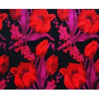 Quality Floral Fabric Jacquard TC Yarn-dyed H/R 21.0cm 470T/74%T/26%C/175gsm for sale