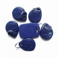 Quality Plastic RFID Key Fobs, 0.8 to 1.2mm Thickness for sale