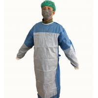 Buy cheap Disposable Reinforced  Sterile nonwovent Surgical Gown with knif cuff ,tie waist .magic tape.with hang card from wholesalers