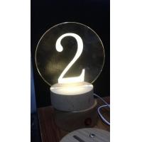 Buy Acrylic laser inner carve number at wholesale prices