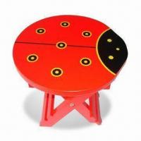 Buy cheap Children's Wooden Stool, Made of MDF, Measures 25.5 x 25.5 x 25cm from wholesalers