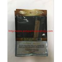Quality Custom Moisturizing Cigar Bag / Plastic Cigar Wet Bag W130 X L220mm Size for sale