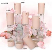 Quality 15ml 20ml 30ml pink color cylindrical slim cosmetic airless pump  bottle for sale