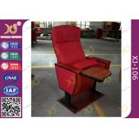 Quality Mounted Floor Walnut Wood Colour Fabric Public School Auditorium Chairs for sale