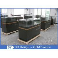 Quality 8MM Glass Thickness Store Jewelry Display Cases / Dark Gray Jewellery Counter Display for sale