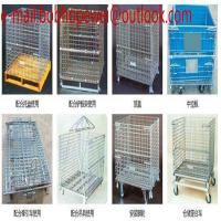 China wire mesh cage folded storage container/Folding Steel Wire Mesh Display Storage Stacking Cage Container,Selling rack cag on sale