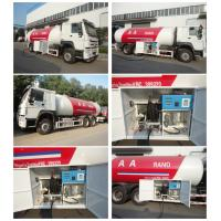Quality 10metric tons 336hp SINO TRUK HOWO brand lpg gas dispensing truck for filhling gas bottles, 25m3 lpg gas dispenser truck for sale