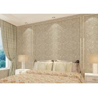 Quality Floral decoration contemporary bedroom wallpaper , Nonwoven modern wallpaper for bedroom for sale