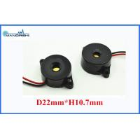 Quality 22MM 10mA Max Sound Effects Buzzer 90dB ABS Housing With Wire for sale