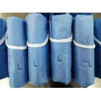 Quality Blue Disposable Medical Gowns Low Linting Water Resistance For Operation Room for sale