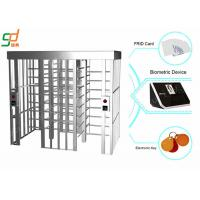 Automatic B - Direction Full Height Turnstiles , Slot Reader access control turnstiles