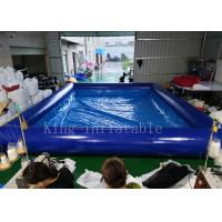 Quality Blue Color 42 Square Meters Inflatable Swimming Water Pool Fire Resistant for sale