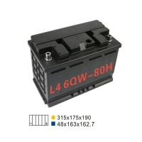 Quality 6 Qw 80H Stop And Start Battery 20HR 80AH 660A Lead Acid Automotive Battery for sale