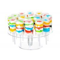 China Wedding Round Acrylic Cake Display Stand 16 Holes Clear Push Pop Cake Stand on sale