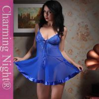 Quality 8 Colors Elastic Mesh Fabric Nylon Transparent Lace Sexy Babydoll Lingerie for sale