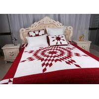 Quality Unique Lone Star Geometric Bedspreads And Coverlets Red / White For Home for sale