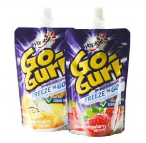 Quality Comestics Heat Seal Spouted Pouches Bag with Spout / Cap , Flexible Liquid Packaging for sale