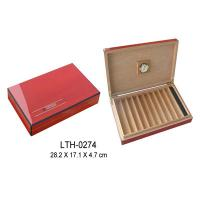 Quality wooden cigar boxes for 10 cigarette packaging, hinge & clasp, logo printed for sale