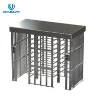 Quality Square Full Height Pedestrian Security Gate Access Control For Airport / School for sale