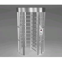 Quality Pedestrian Rotating Full Height Turnstile 500mm 316SS  With LED Direction Indicators for sale