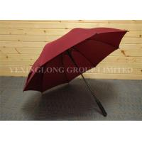 Quality Formal Red Design Oversized Golf Umbrella , Women'S Stick Umbrellas Metal Tips for sale
