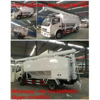 Quality Euro 4 dongfeng 12m3 livestock and farm-oriented feed transported truck for sale, 6-8tons livestock bulk feed truck for sale