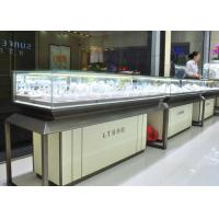 Quality Fashion Jewellery Display Counter / Jewelry Store Fixtures Customized Logo for sale