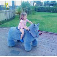 Quality Hansel coin operated outdoor kids ride on plush animal electric scooter for sale