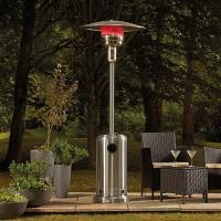 China 220 cmH Stainless Steel Silver Gas Flexible Radiant Full Height Patio Heater on sale