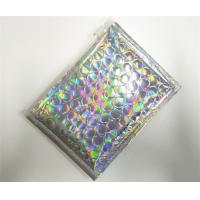 Quality Customized Holographic Bubble Mailers Shiny Color With Ziplock Closure Recyclable for sale