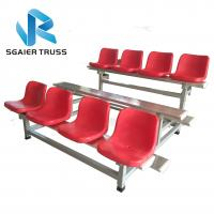 Quality Flexible Outdoor Aluminum Stadium Bleachers Economic 2 - 5rows Long Bench for sale
