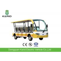 Quality Environmentally Friendly 11 Seater Mini Pure Electric Open Top Sightseeing Car 72V Motor For Public Area Transportation for sale
