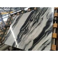 Quality Luxury Italian Marble Slabs , Panda White Marble Slab With Gray Lines for sale