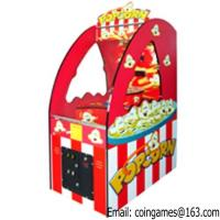 Buy Indoor Arcade Games Mini Kids Lottery Popcorn Redemption Machine at wholesale prices