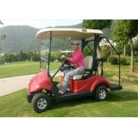 Quality Red Club 2 Seater Golf Carts , 48V 3 KW Battery Operated Electric Golf Cart CE Certificate for sale