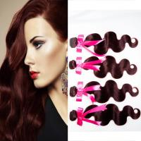 Quality Sensationnel Cambodian Curly Hair Weave / Cambodian Body Wave Hair for sale