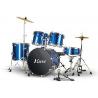 Quality Custom Blue 5 Piece Full Size Acoustic Adult Drum Set PVC Series A525Q-803 for sale