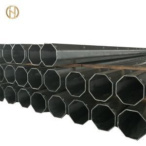 Quality Buried Type Metal Utility Poles GR50 Octagonal Shape 15KV 33KV 14m for sale