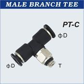Quality Compact One Touch Tube Fittings Male Branch Tee for sale