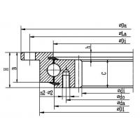 Quality Four point contact ball slewing bearing (with outer flange and internal gear type) for sale