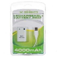 Quality XBOX 360 Rechargeable Play & Charge Kit Battery Pack 4000mAh Paffery pack for sale