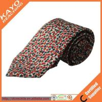 Quality beautiful design fashion style custom print silk tie for sale
