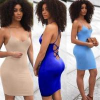 Quality 3 Color Stylish Mini Dress with Tie Up back XD602 #XD602 for sale