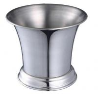 Quality IB013 1L Stainless Steel Barware Wine Cooler Ice Bucket Open-Mouth Metal Bucket with Stand for sale