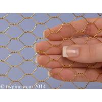 """Quality 1/2 Inch Bronze Hex Mesh (22 Gauge) 36"""" Wide for sale"""