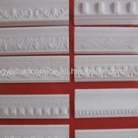 Quality Ceiling Window Wall Frame White Color Gypsum GRG GRC Plaster Moulding Cornice for sale