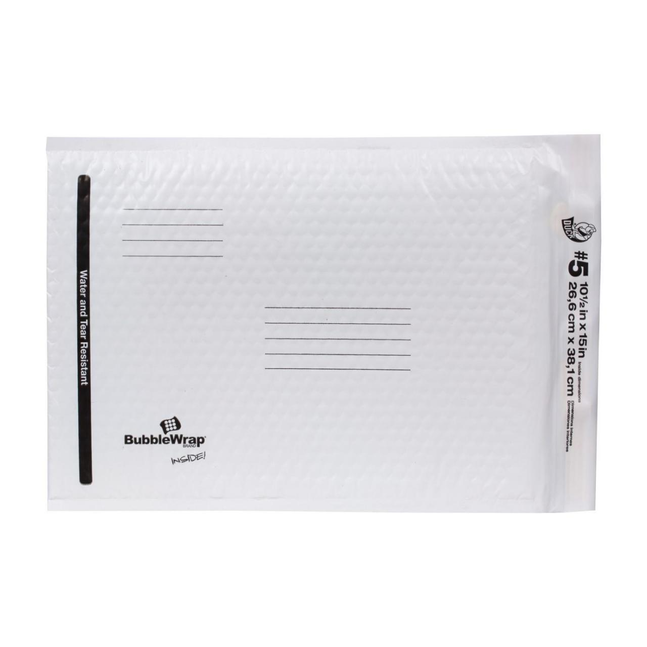 Quality Bubble Wrap Cushioned Poly Envelope - White, 10.5 in. x 15 in. for sale