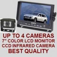 """Quality 7"""" COLOR REAR VIEW BACKUP CAMERA SYSTEM - Digital Flat LCD and CCD Camera for sale"""