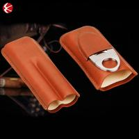 China 3 Count Cigar Case High Quality Cheap Wholesaler Cigar Case Custom Cigar Humidor Case on sale
