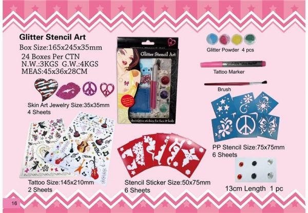 Buy DIY glitter stencil art at wholesale prices